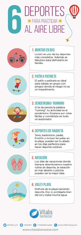 6 deportes para practicar al aire libre - Vitalis Bienestar