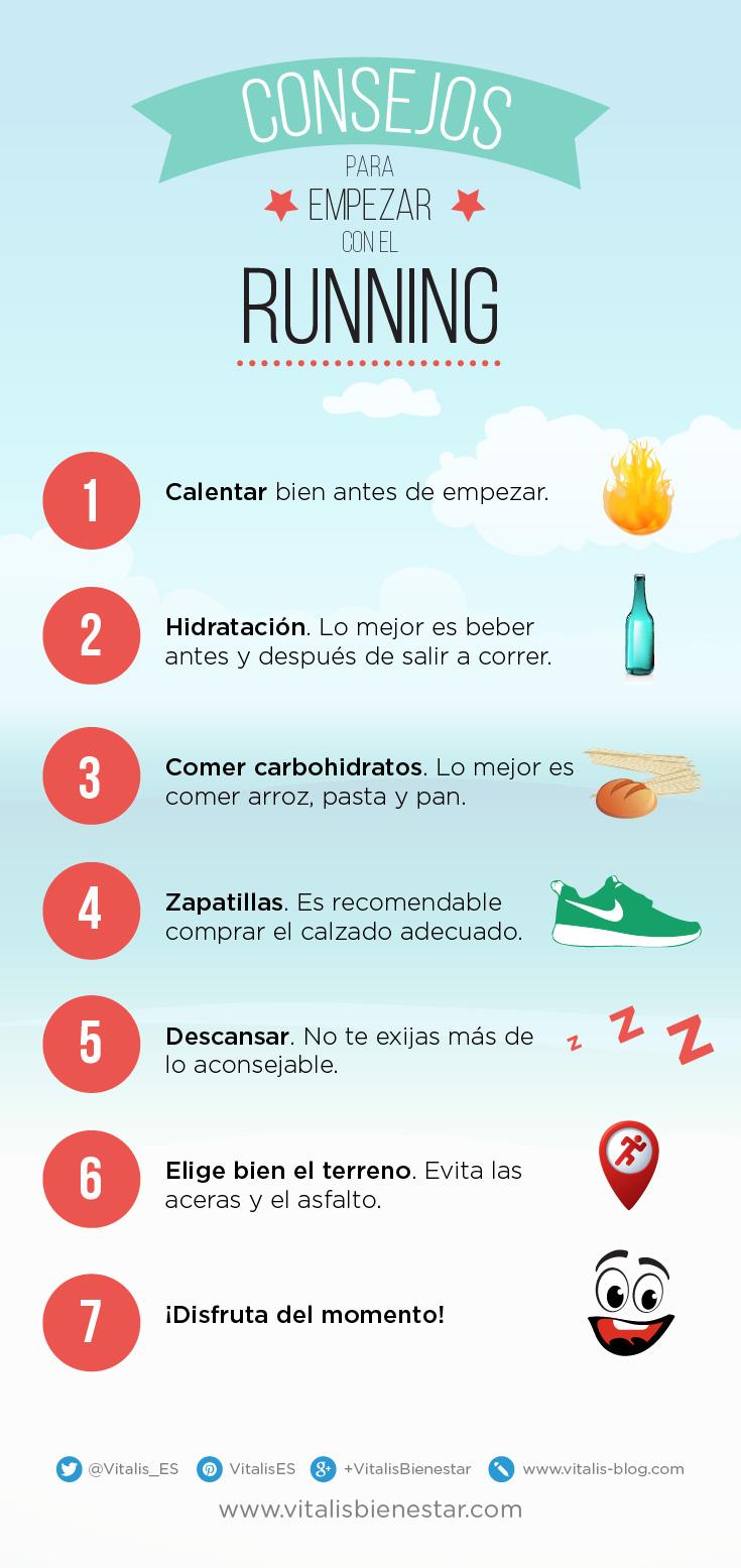 consejos para empezar a hacer running - vitalis bienestar - infografia